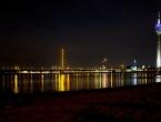 Skyline von Düsseldorf bei Nacht
