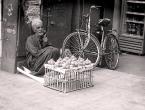 Limetten-Verkäufer in Kairo, Ägypten.